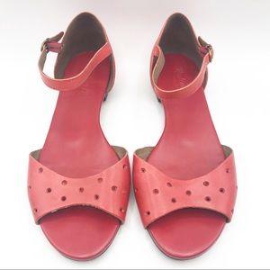 Madewell Holepunch Siberian Red Open Toe Sandal